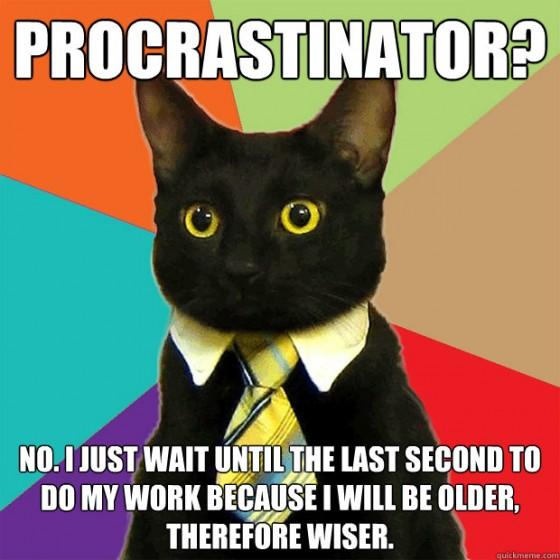 Eu procrastinador?