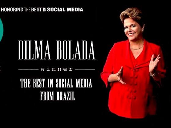 Dilma Bolada leva troféu: a melhor em mídias sociais no Brasil