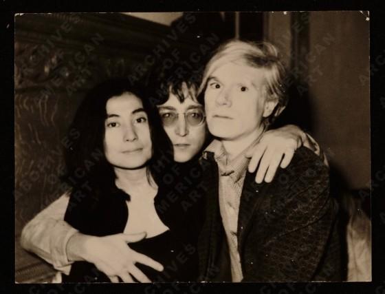 Yoko Ono, John Lennon e Andy Warhol, 1971 Junho 5