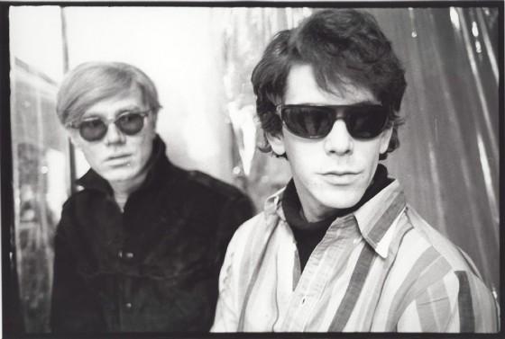 Warhol e Lou Reed fotografados por Stephen Shore em 1965