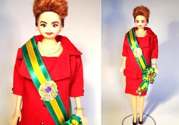 Boneca Dilma criada pelo artista Marcus Baby