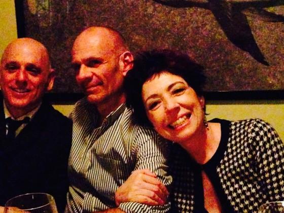 Jantar de Aniversário, 14 março 2014, NYC. Robert, Doug e Beia