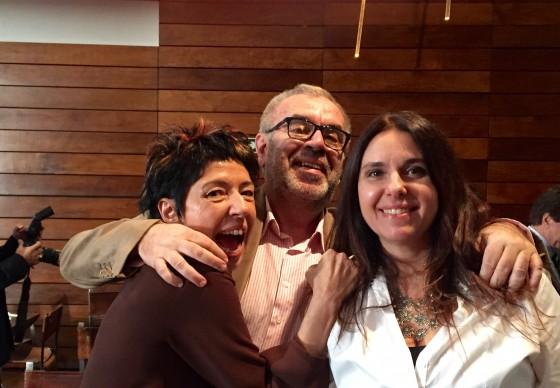 Beia Carvalho, o jornalista Celso Arnaldo e a executiva Tânia Mattana.