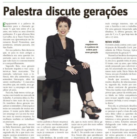 Palestra de Beia Carvalho, no Brazil Promotion, é destaque no PropMark.