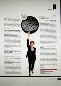 Beia Carvalho entrevistada pela RH Magazine, matéria de capa