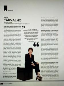 Beia Carvalho entrevistada pela RH Magazine, matéria de capa. Lisboa, maio2016