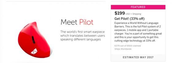 Indiegogo: reservas de Pilots.